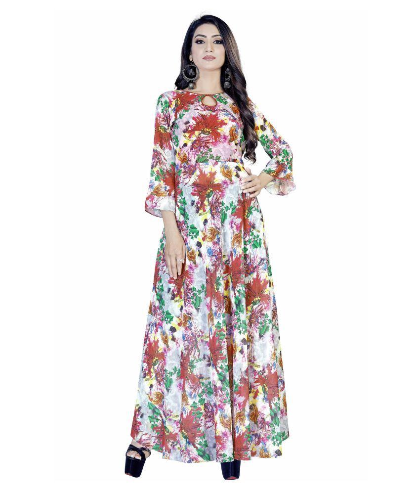 ARYAN ENTERPRISE Georgette Multi Color A- line Dress