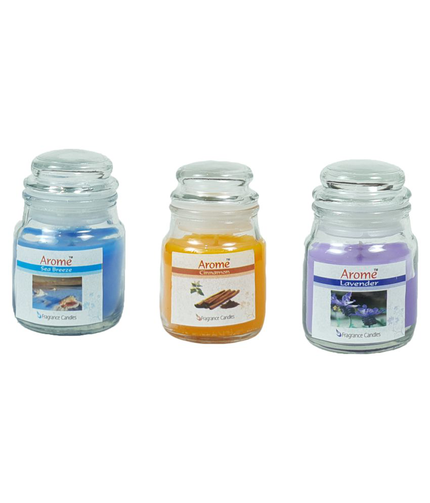 Home Adhya Multicolour Jar Candle - Pack of 3