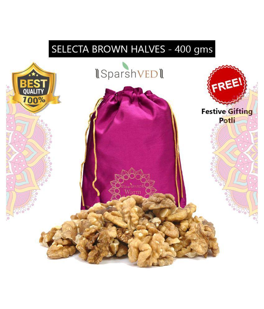 Sparshved Selecta Amber Halves (Akhrot Giri) 400g (Vacuum Packed)
