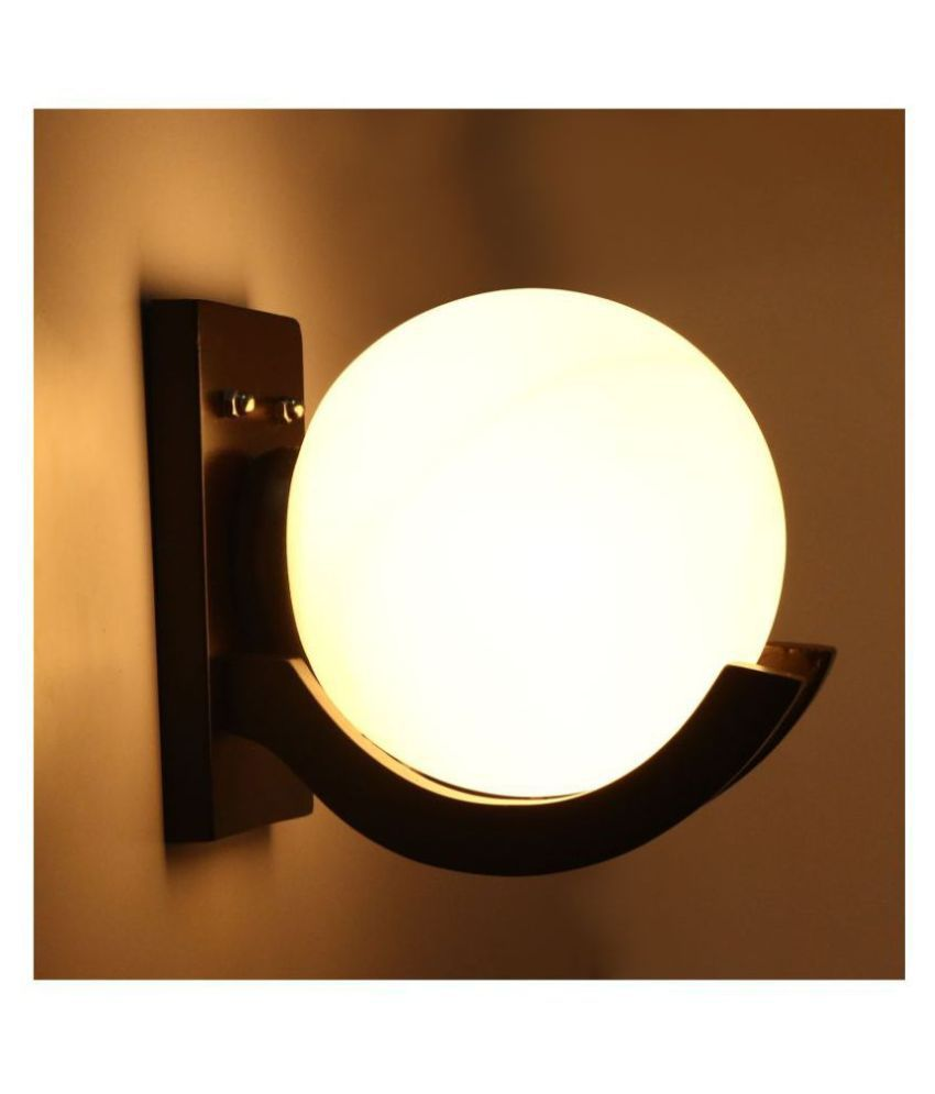 AFAST Glob Wall Lamp Glass Wall Light White - Pack of 1