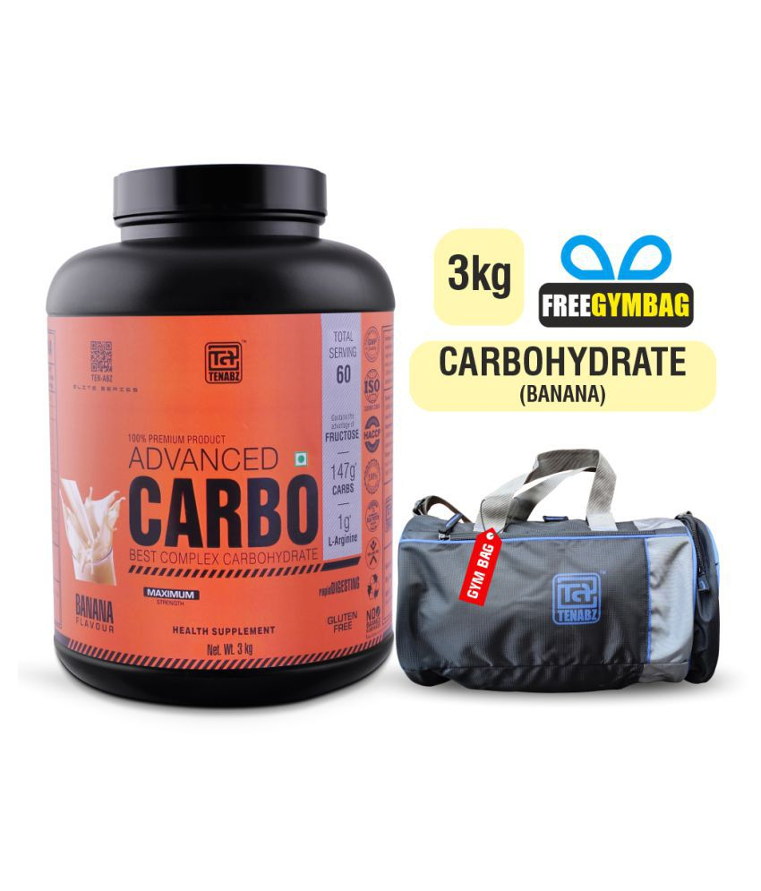 Tenabz Advanced CARBO | Weight Gainer with Gym Bag 3 kg Weight Gainer Powder