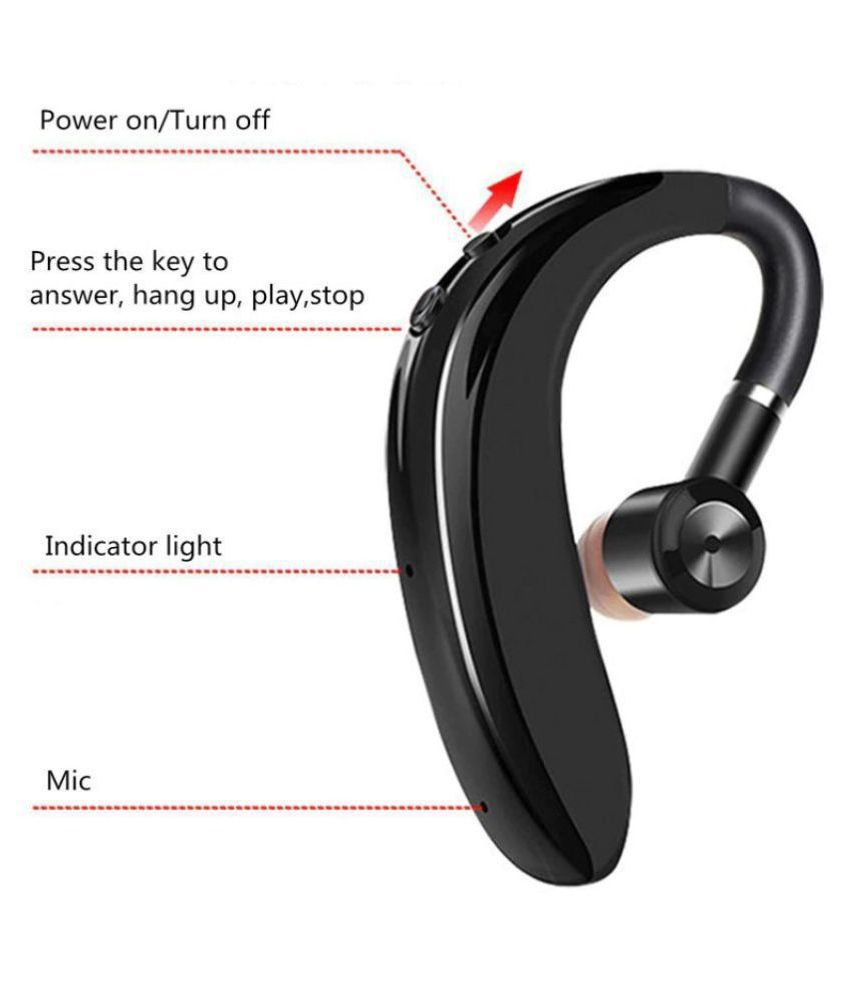U KOBA S109 Wireless Bluetooth Headset with Mic   Black  Calling  amp; Music Earphone  for Single Ear