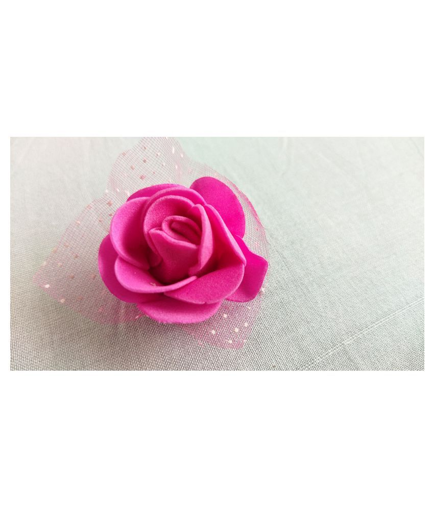H-0004 36Pcs Pink Color Artificial Flower And Art And Craft