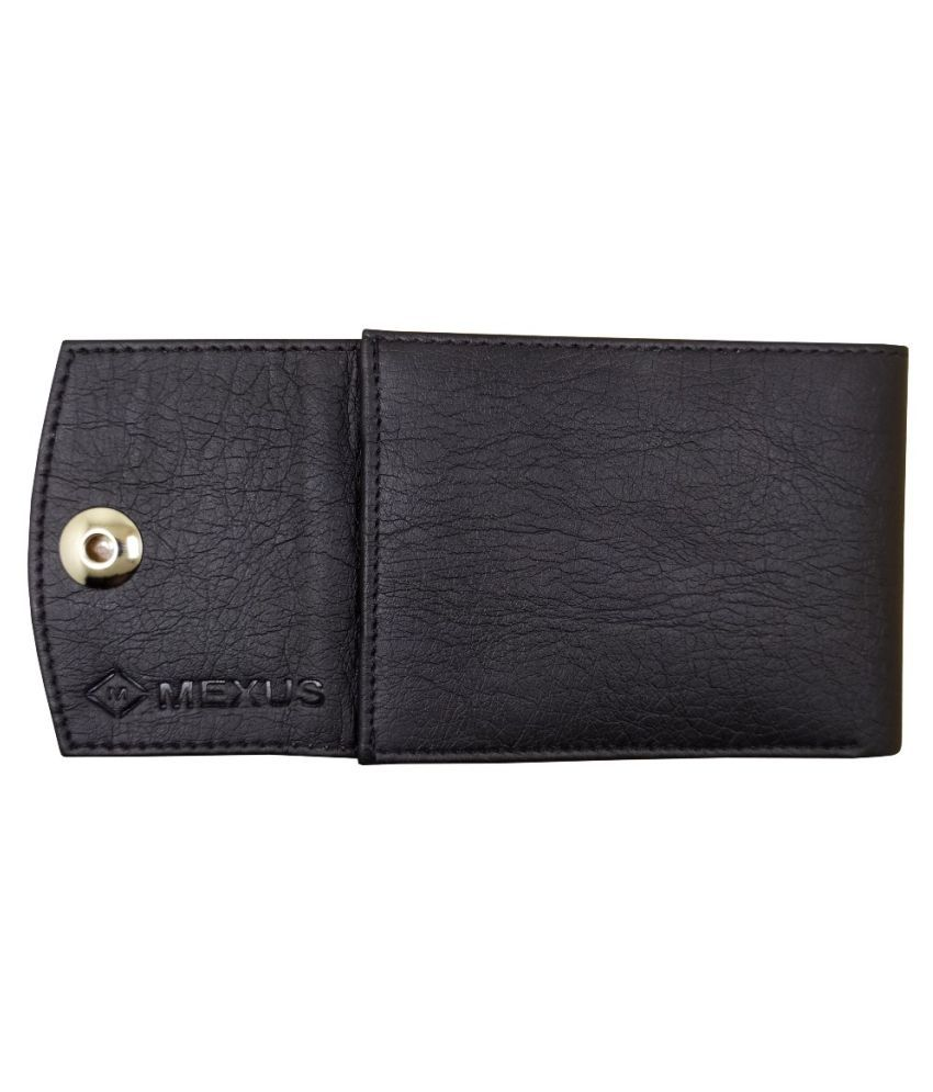 MEXUS Faux Leather Black Fashion Regular Wallet