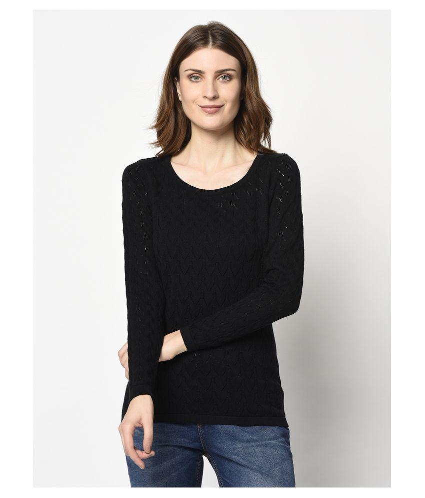 98 Degree North Cotton Black Pullovers