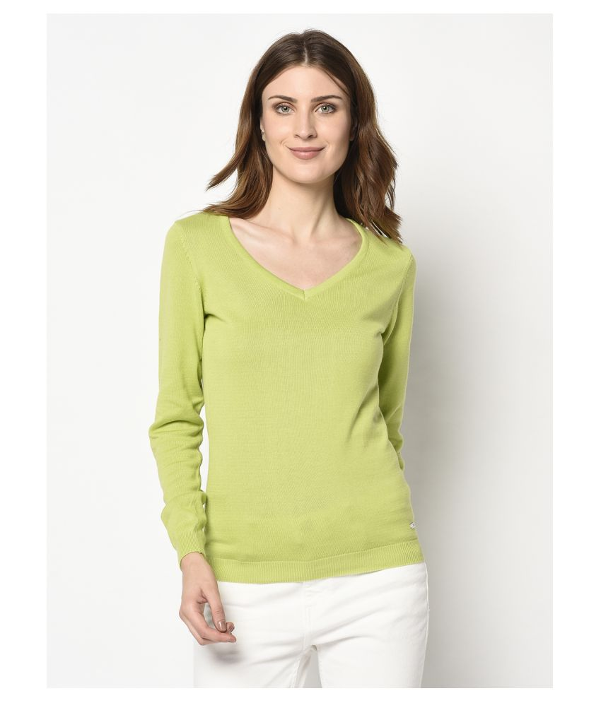 98 Degree North Cotton Green Pullovers