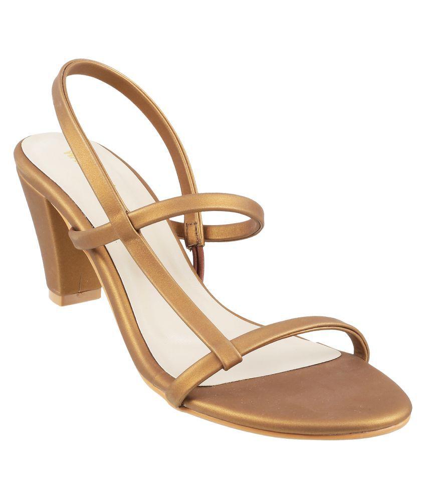 WALKWAY BROWN Block Heels