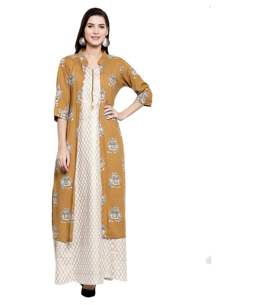 Anansa Cotton Yellow Fit And Flare Dress