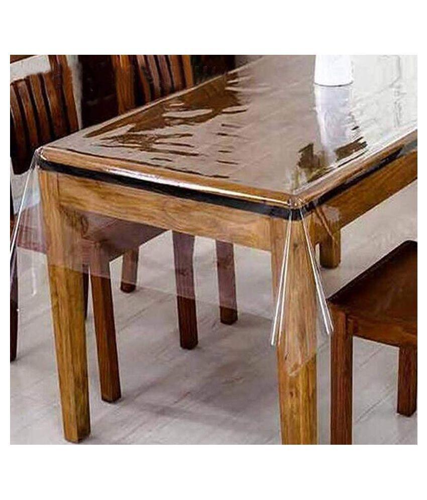 SAASHIKA 8 Seater Transparent PVC Single Table Covers