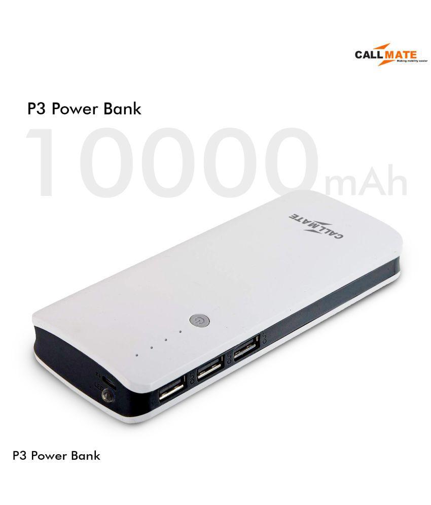 Callmate P3 10000  mAh Li Ion Power Bank Black