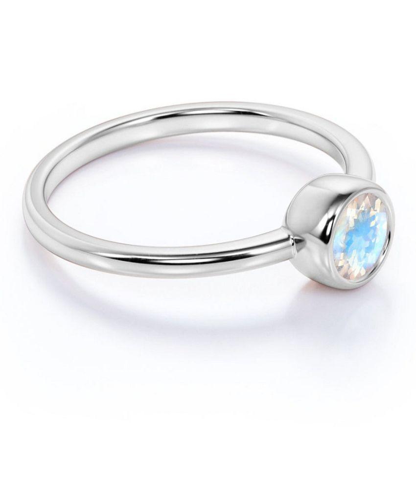 Kundli Gems- Natural & Certified Stone Moonstone Ring Beautiful Moonstone Adjustable Ring