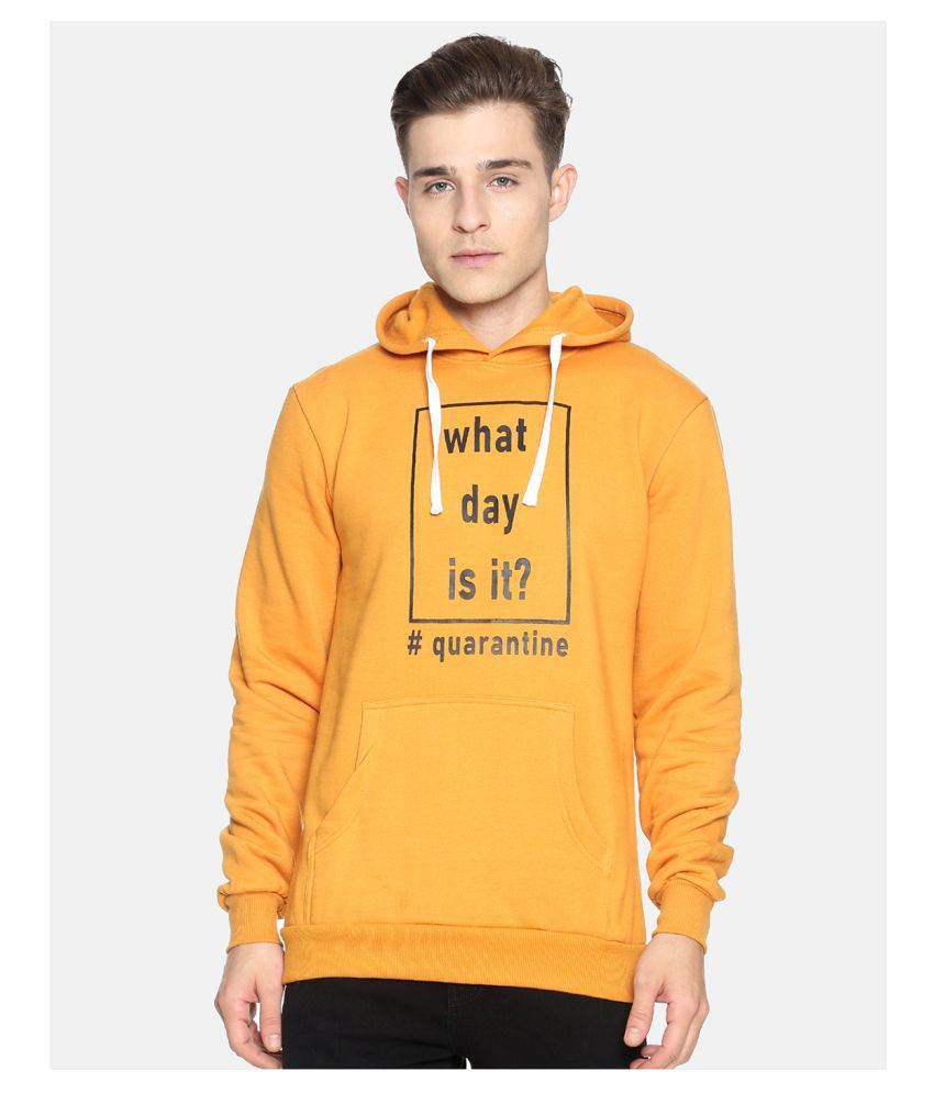 Campus Sutra Yellow Sweatshirt