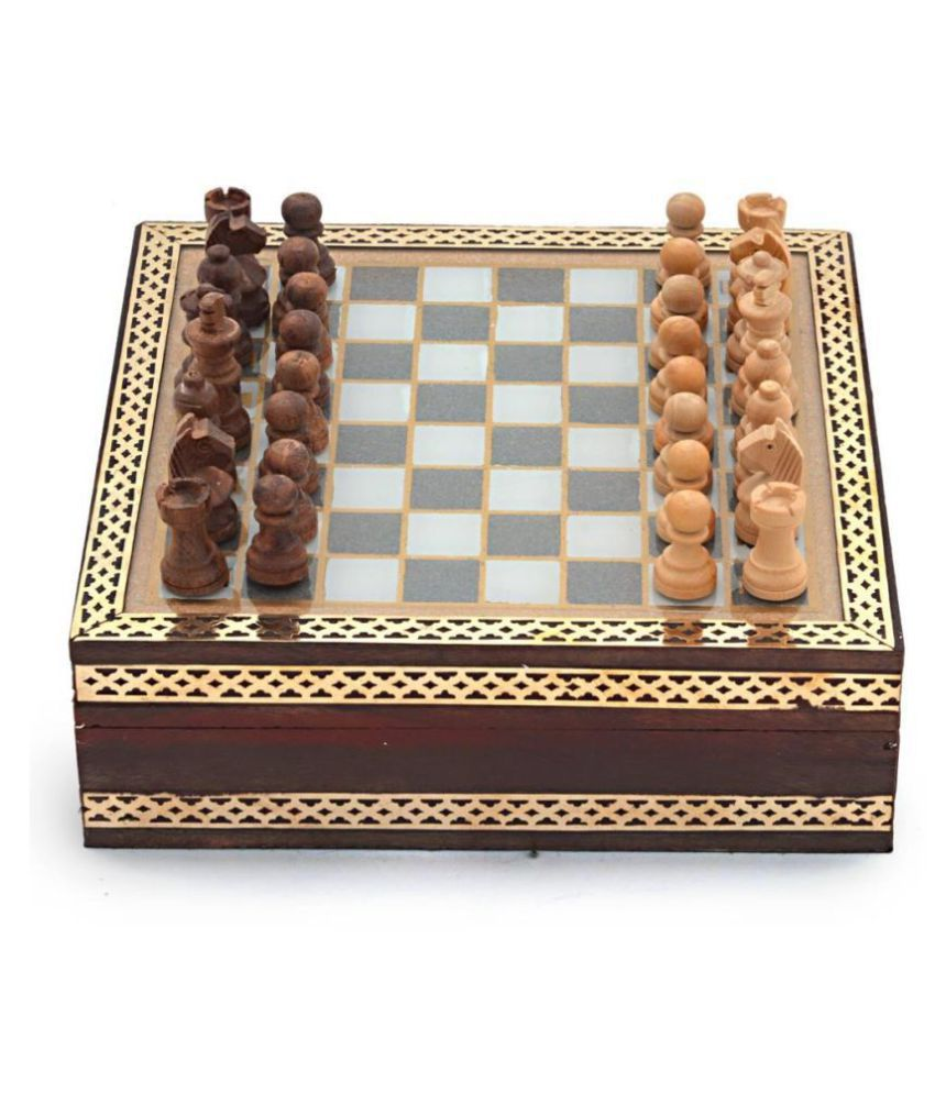 Handmade Rajasthani Gemstone Chessboard Game -210