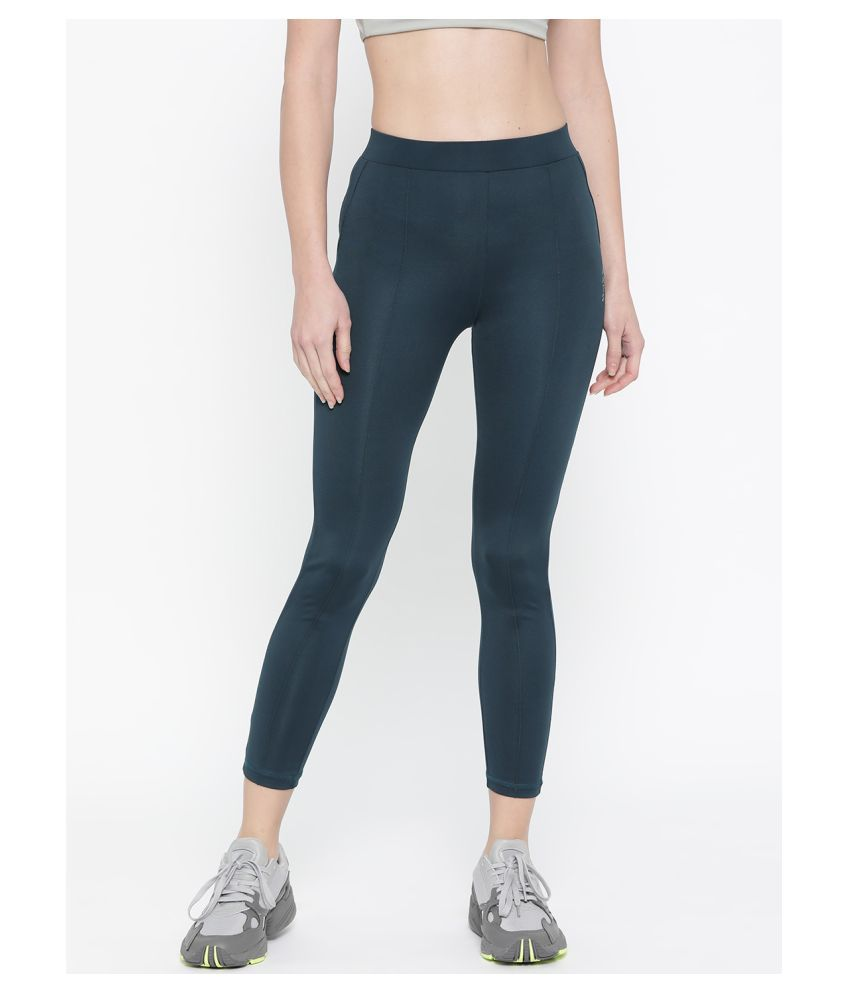 Ants Poly Crepe Tights - Blue