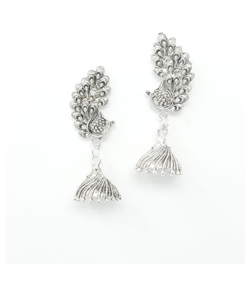 Jaishree Jewels Silver Antique Design Earrings for Girls and Women