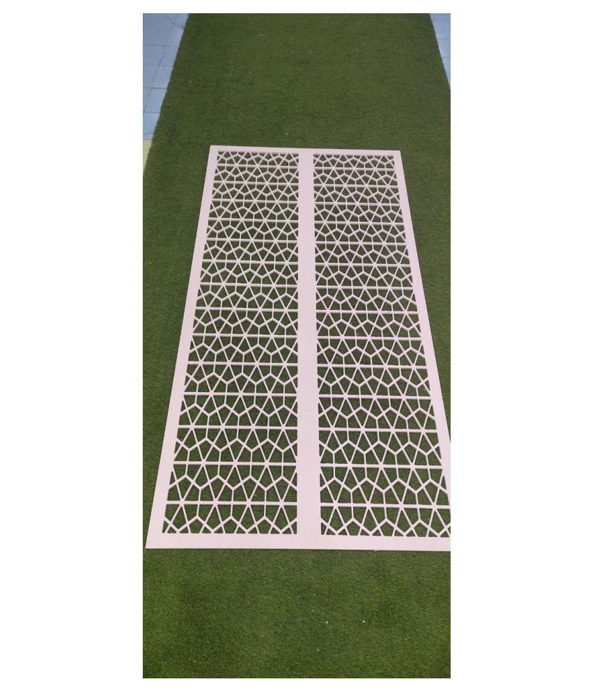 WPC PVC Decorative WPC Jali Rectangular Decoratives Panel White - Pack of 1