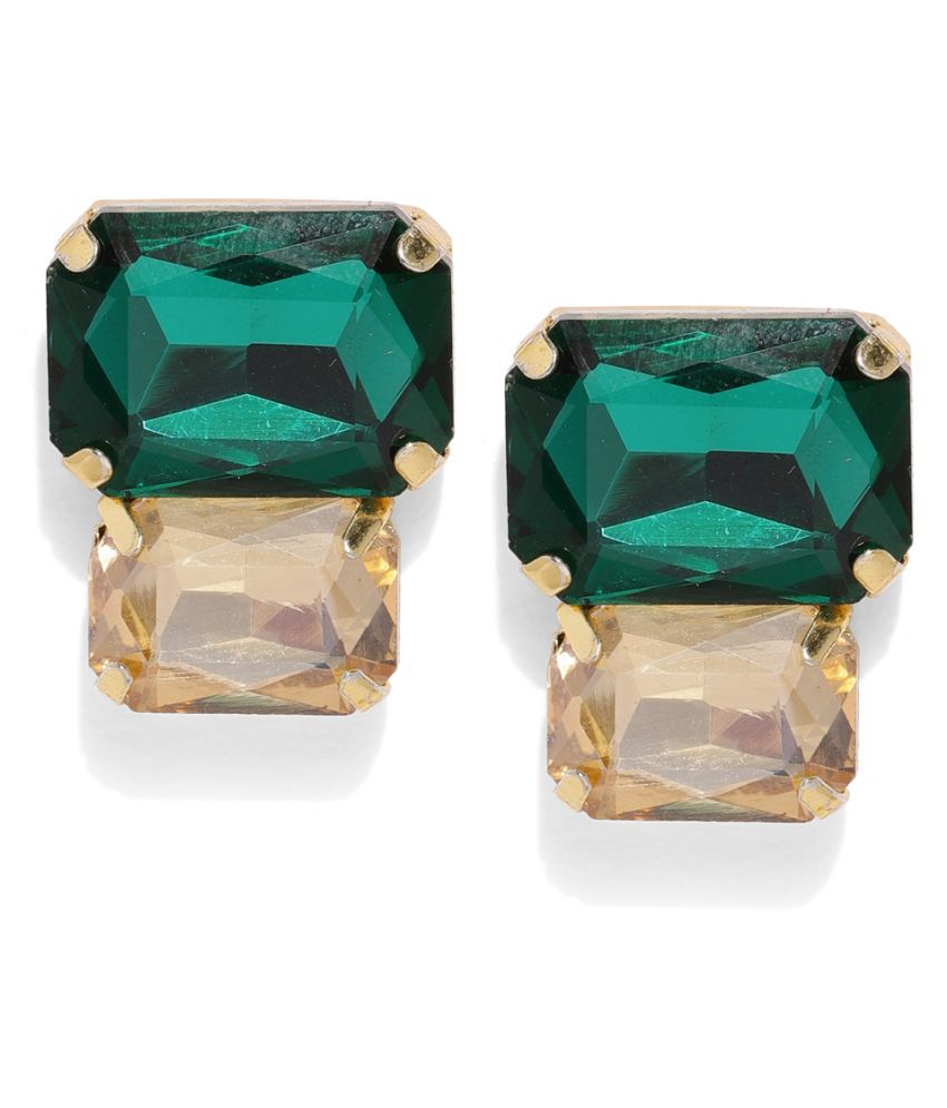 Asmitta Party wear Gold toned Stud Earrings for Women and Girls