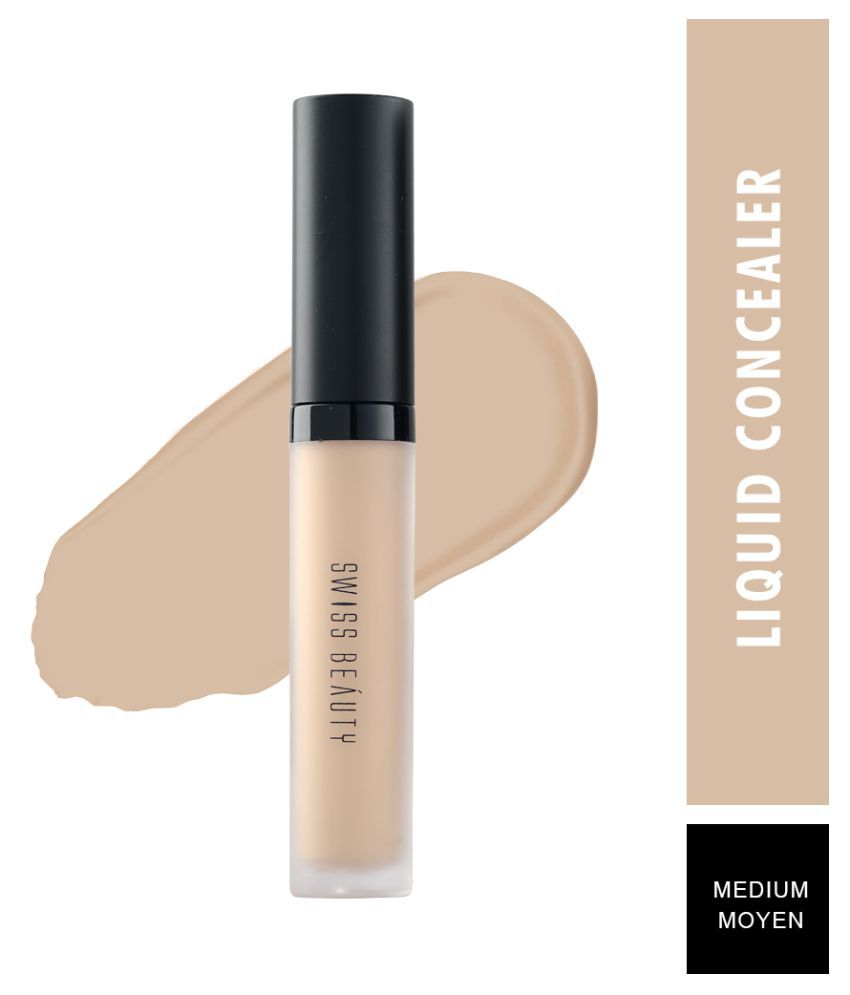 Swiss Beauty Professional Medium Beige Liquid Concealer Nude 6 mL