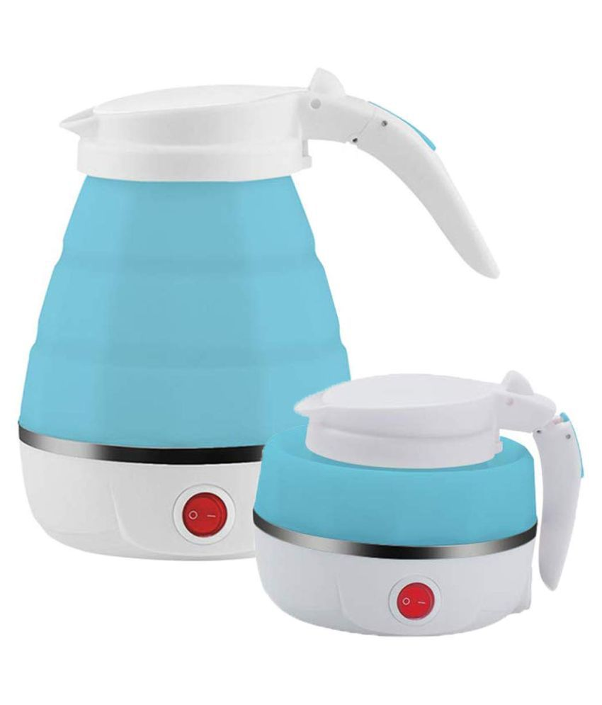 IKON'S Foldable KETTLE 0.7 Liter 800 Watt Plastic Electric Kettle