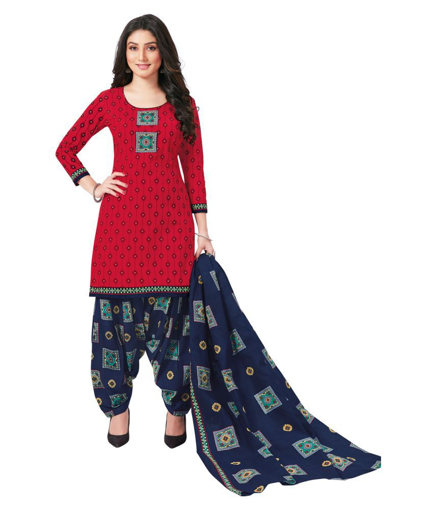 Salwar Studio Cotton Kurti With Patiala - Stitched Suit