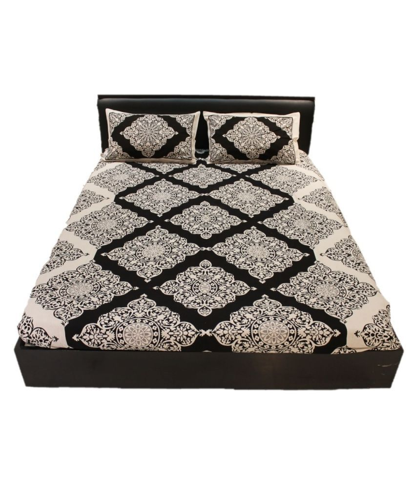 Urban Studio Cotton Double Bedsheet with 2 Pillow Covers ( 227 cm x 250 cm )