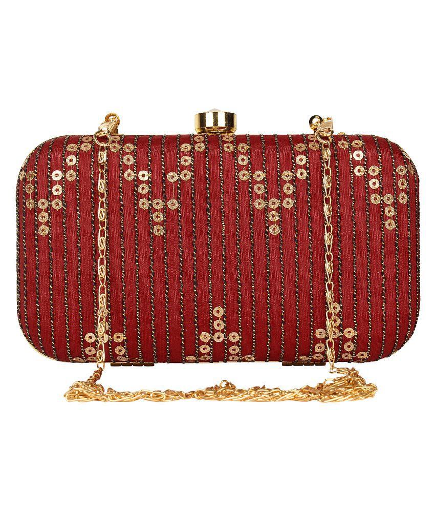 Maroon and Gold Box Bag