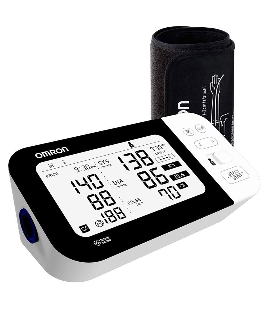 Omron HEM 7361T Bluetooth Digital Blood Pressure Monitor with Afib Indicator and 360° Accuracy Intelliwrap Cuff for Most Accurate Measurements (White)
