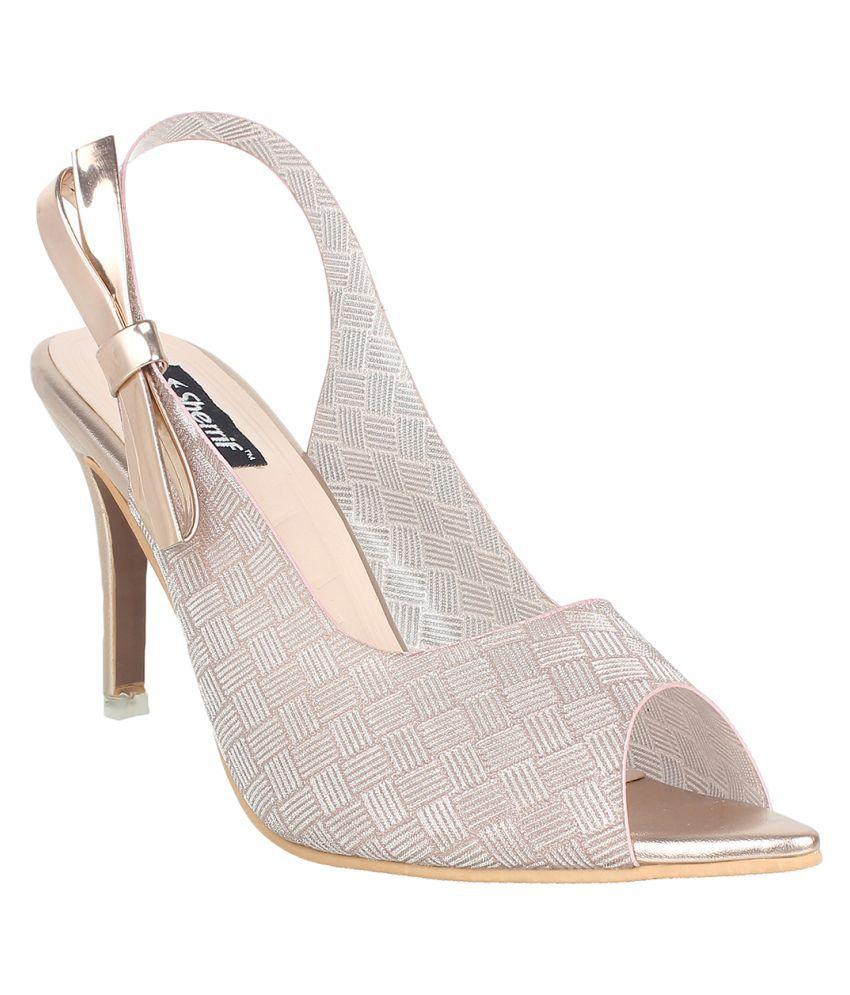 sherrif shoes Champagne Stiletto Heels