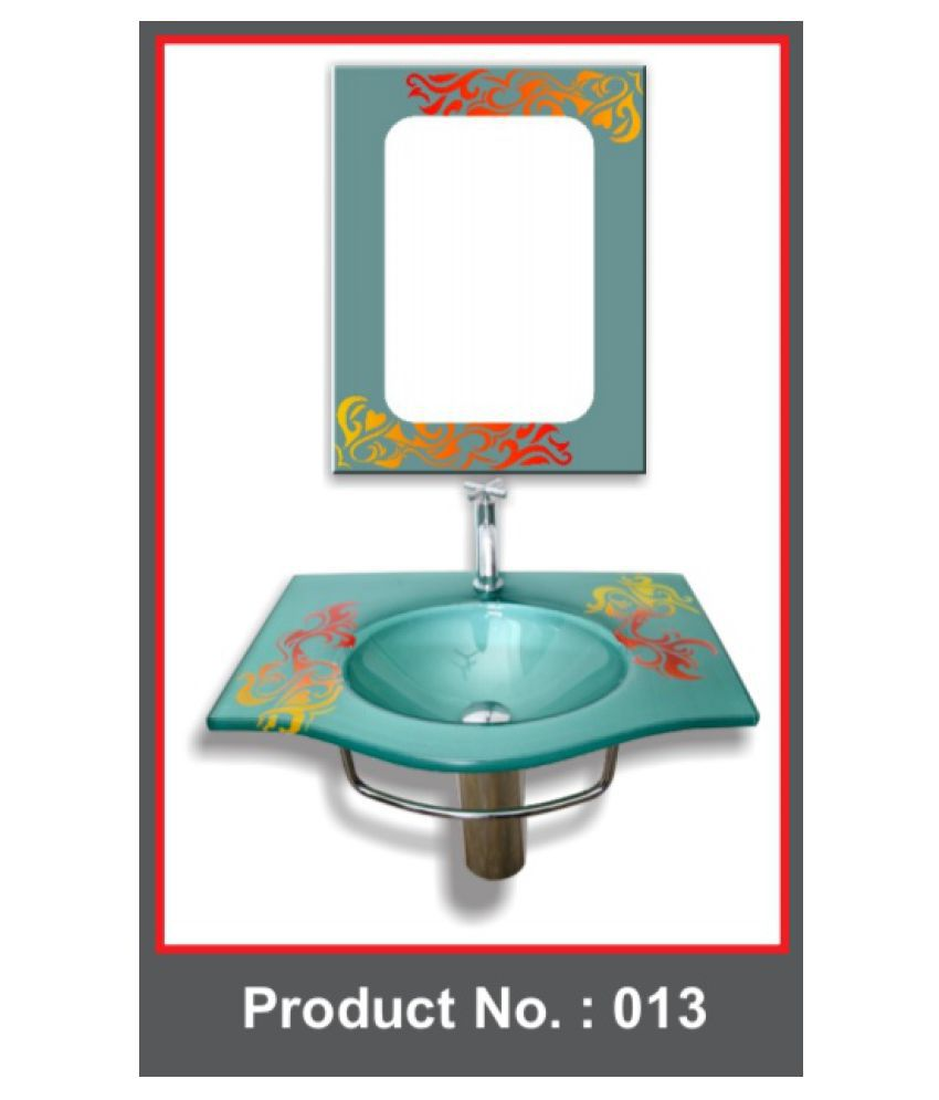ARVIND SANITARY Assorted Toughened Glass Wall Hung Wash Basins
