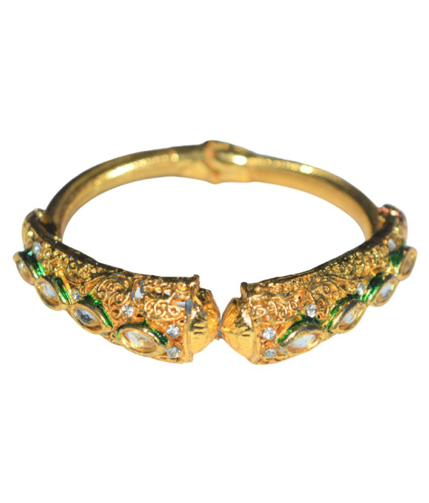 AsteriaCreation Bangle Gold Plated Handmade Work Design Jewelry for Women & Girls