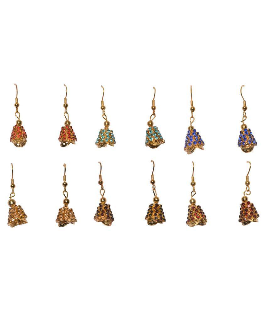 AsteriaCreation Combo of 6 Pairs of Jhumka/Earrings