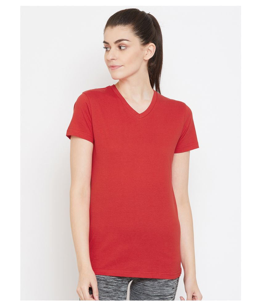 C9 Airwear Cotton Regular Tops - Red