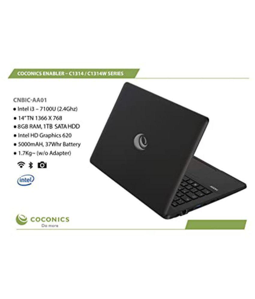 Coconics Enabler C1314W  Windows 10 Home  Intel Corei3  7100 U  2.4 Ghz , 14 #034; #034; TN 1366 x 768, 8 GB RAM/ 1 TB SATA HDD