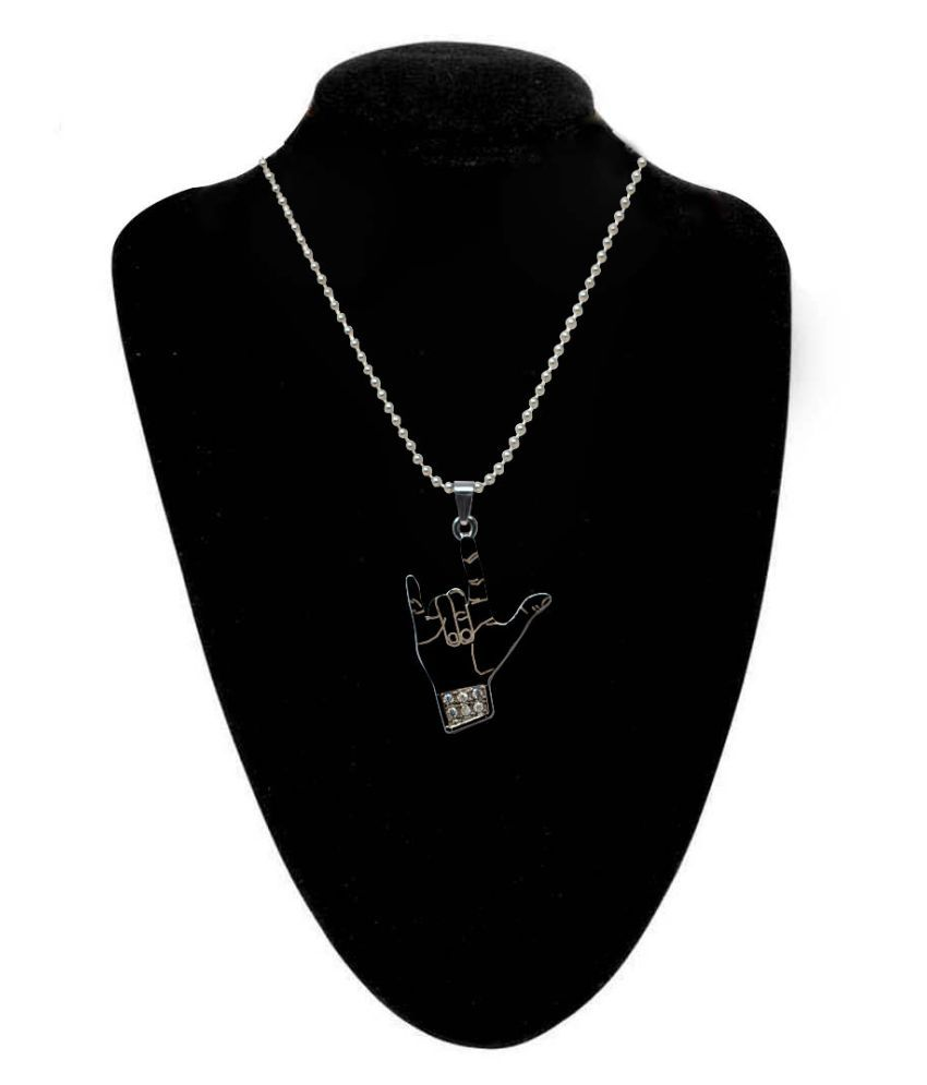 Jaishree Jewels Designer Silver Anitque Hands Yoo Style Zircon Studded Men Jewelry