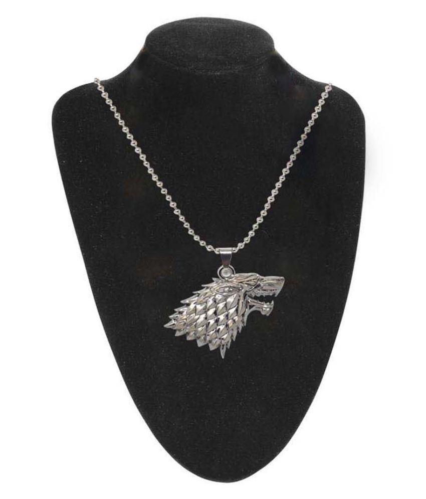 Silver Antique Dragon Style Pendant Jewelry By Jaishree Jewels