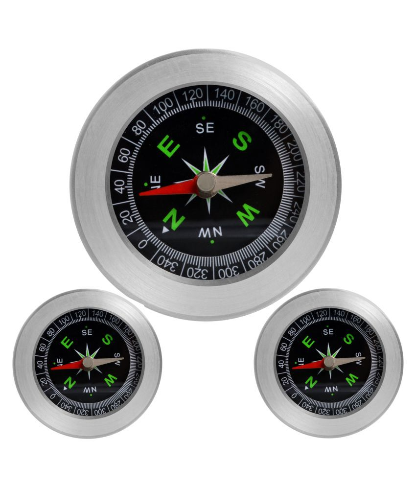 3 Pieces Big Size Military Magnetic Compass Fengshui Camping Hiking
