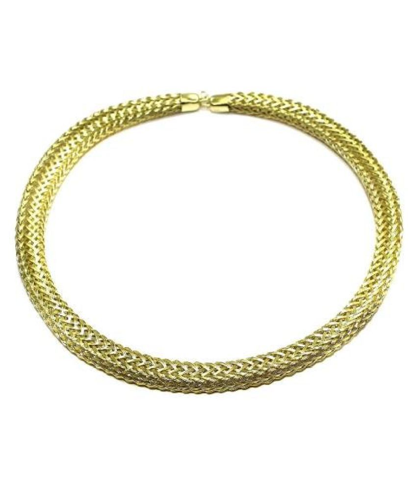 Beadsnfashion Necklace Collar Golden 15 Inch
