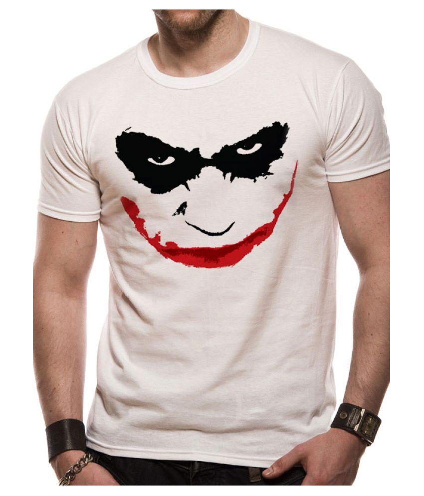 TUBESTI Polyester Cotton White Self Design T-Shirt