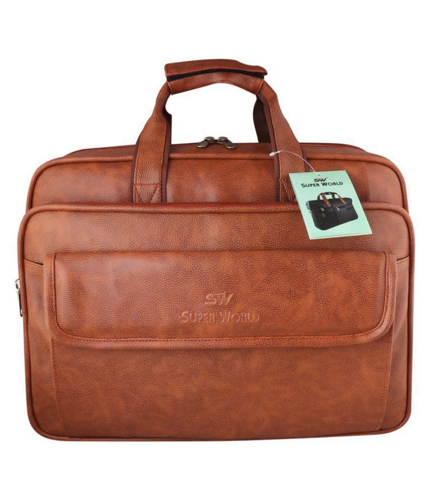 SW Super World Tan Synthetic Casual Messenger Bag
