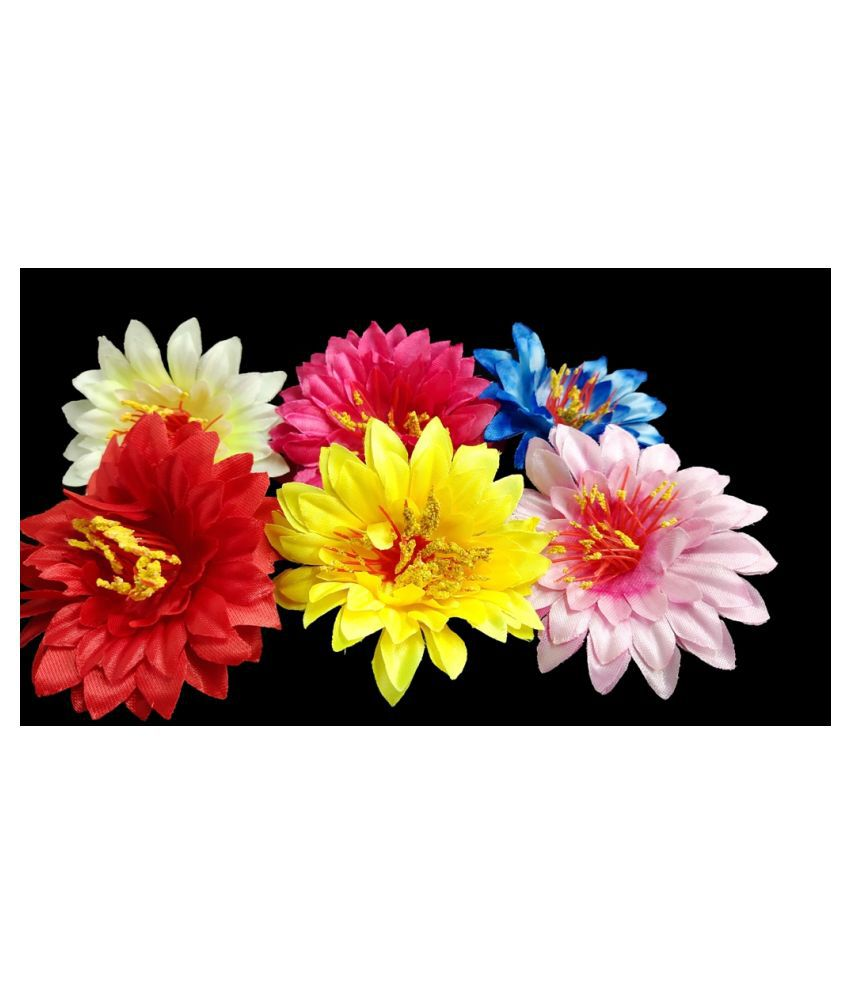 28pcs Multicolor Artificial Flowers for Diwali & Room Decoration
