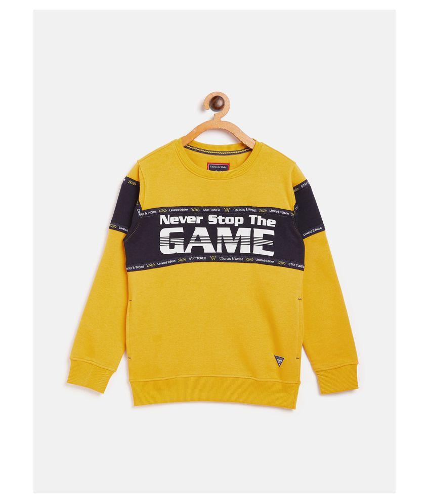 COURSES & WALES Boys Sweatshirt Fleece Regular Fit Chrome Yellow