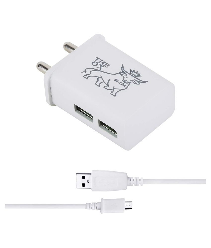 THE OX 2.4A Wall Charger