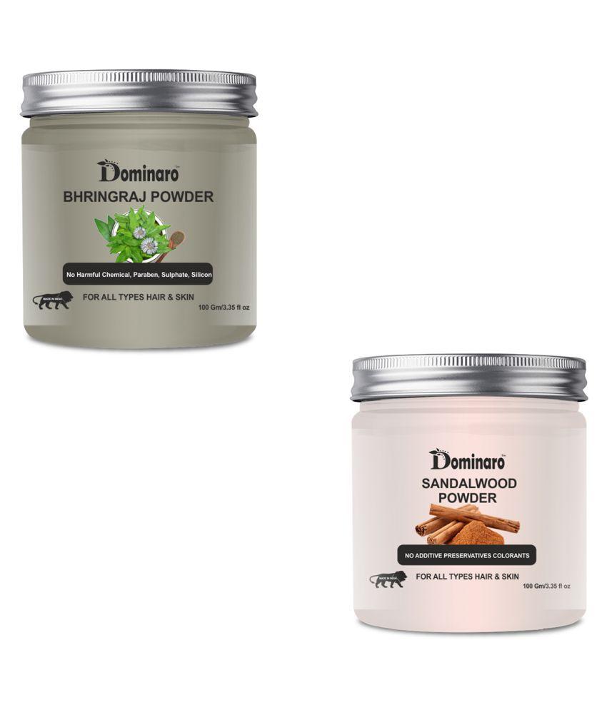 Dominaro 100% Pure Bhringraj & Sandawood POwder Face Pack 200 gm Pack of 2
