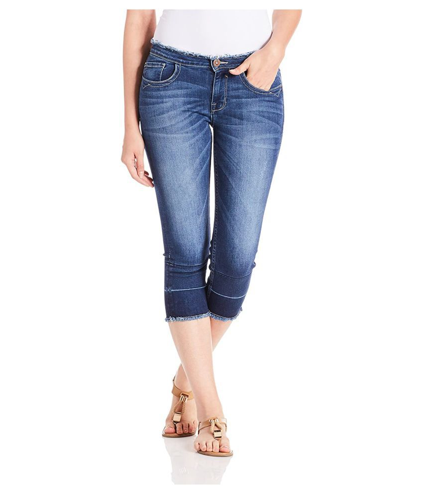 Jealous 21 Cotton Lycra Jeans - Blue