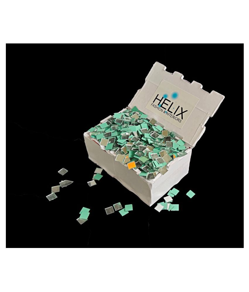 1650pcs 9mm Square Mosaic Pieces for Jewellery Making & DIY