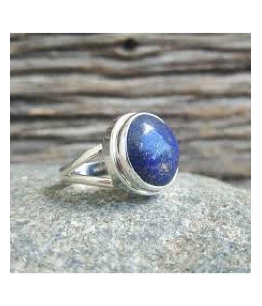 Natural lapis lazuli  2.5 Carat silver Ring  by Kundli Gems\n