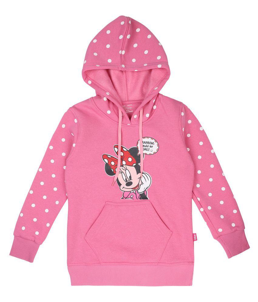 Proteens Girls Pink Printed Hooded sweatshirt