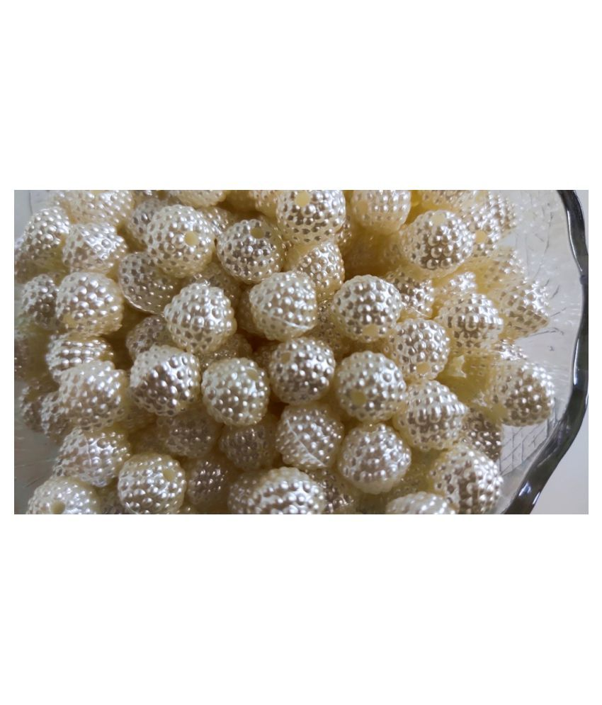 Shanku Pearl Beads Balls for Embroidery & Decoration (10mm,170pcs)
