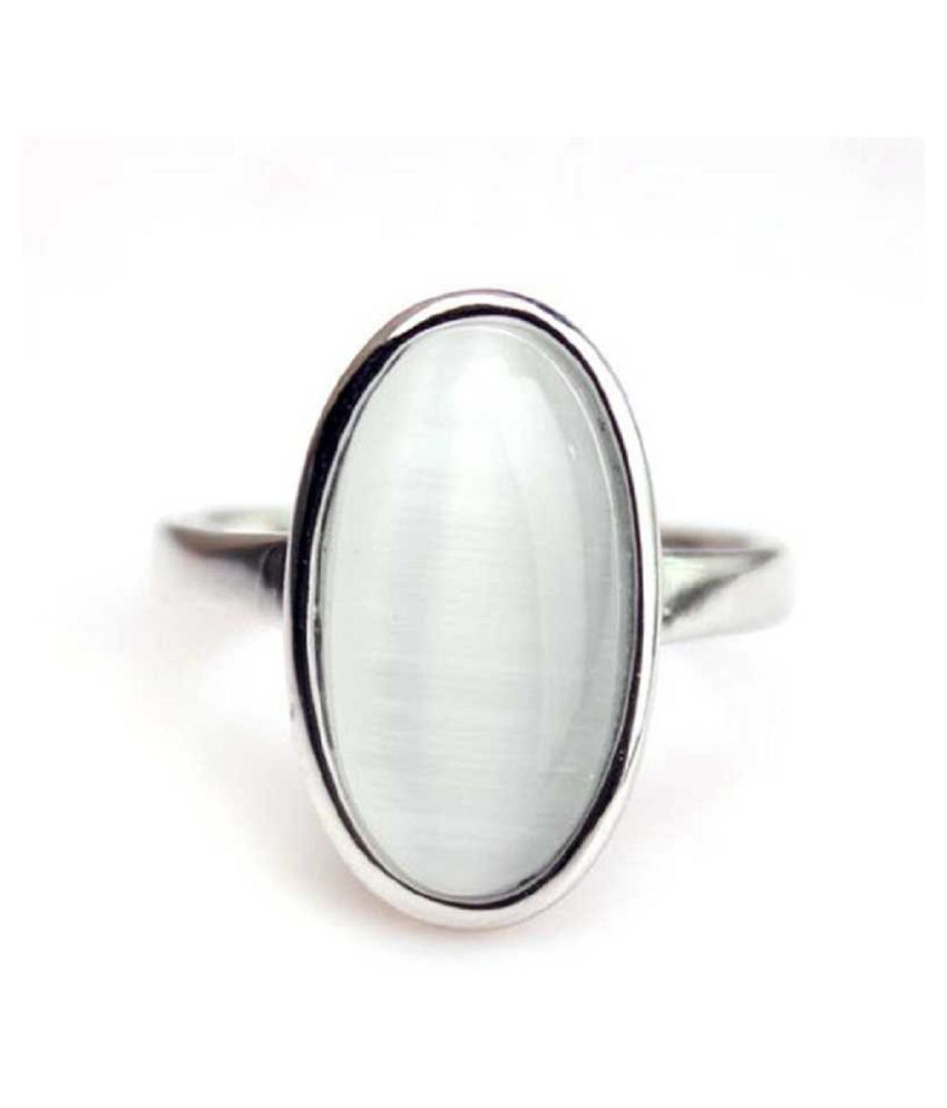 MOONSTONE  Ring 2.25 Ratti 100% Original Silver MOONSTONE  Stone by  Ratan Bazaar