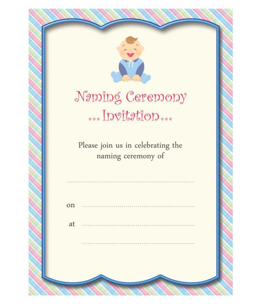Naamakaran/ Naming Ceremony Themed Pack of 30 cards- Fill in Style
